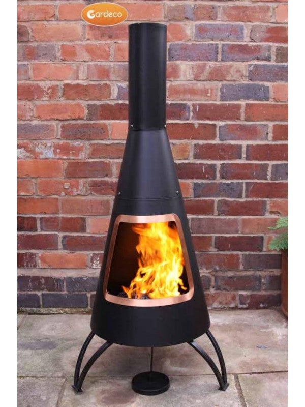 Gardeco - Cono Large Cone Chiminea Copper mouth