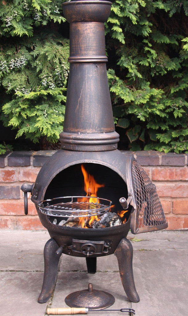 Gardeco - Granada Cast Iron Chiminea - Large