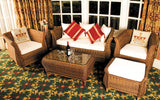 Jamaica Cozy Bay Honey Java 4 Seater Table, Cha...