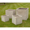 Dalby Square Fibre Clay Planter in Black - Set of 4