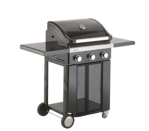 Lifestyle Ebony Deluxe 3 Burner Gas Barbecue with Side Burner