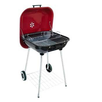 Master Cook Charcoal Table Top Barbecue - Red