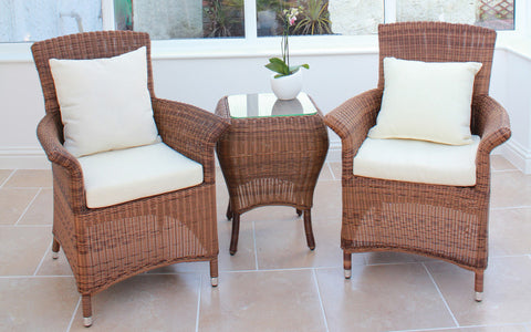 Cannes Mocha Royalcraft Brown 6-Seater Round Set