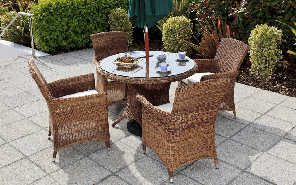 Panama Cozy Bay Honey Java 4 Seater Table & Chair Set