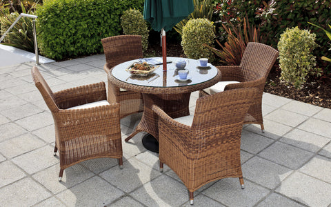 Cannes Ebony Royalcraft Black 6-Seater Round Set