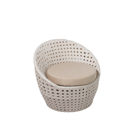 Peble Cozy Bay White Super Weave Armchair