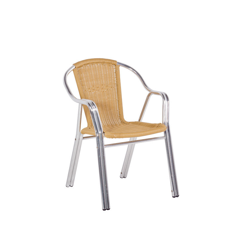 Bistro Cozy Bay Cappucino Beige Stackable Chair