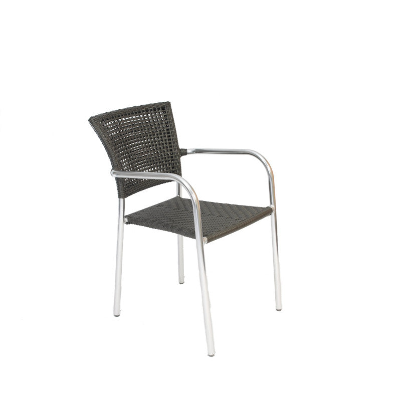 Bistro Cozy Bay Filtro Grey Stackable Chair