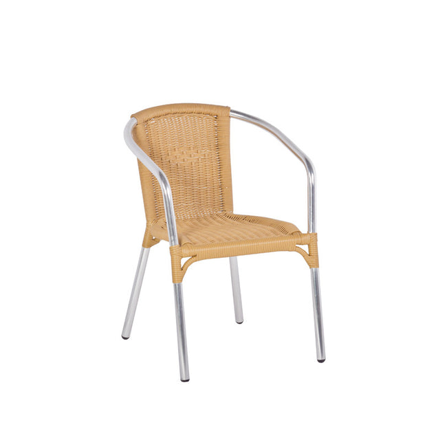 Bistro Cozy Bay Frappe Beige Stackable Chair