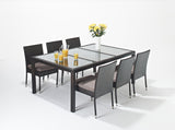 Port Royal Luxe Rectangle Dining Set 6 seater