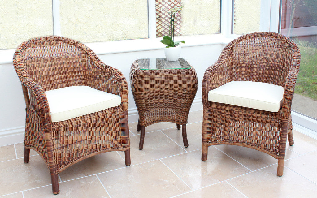 Sicilia Cozy Bay Honey Java Table & Chair Set