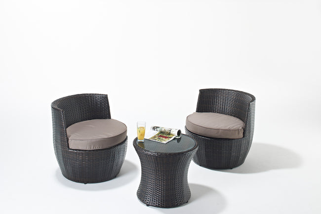Funky Rattan stacking sofa set