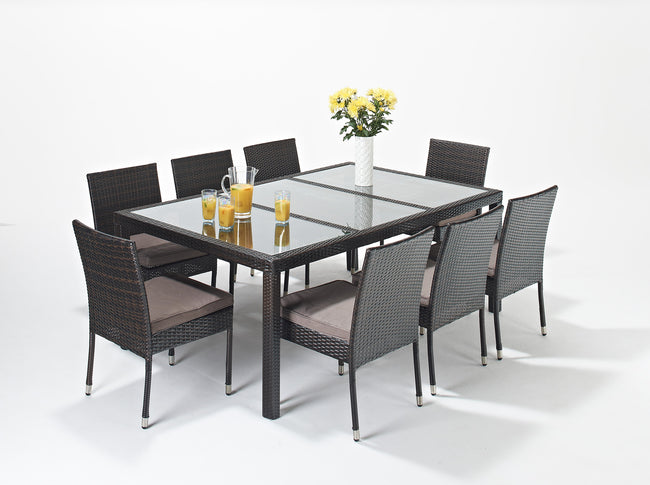 Port Royal Luxe Rectangle Dining Set 8 seater