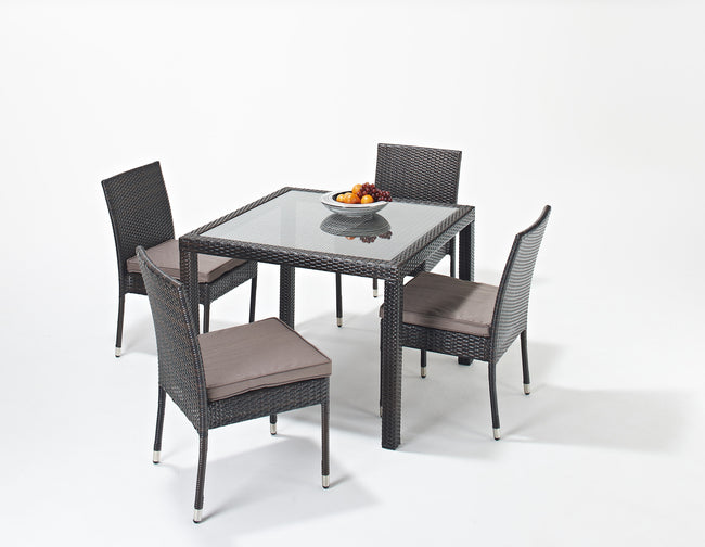 Port Royal Luxe Square Dining Set 4