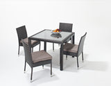 Port Royal Luxe Square Dining Set 4 seater
