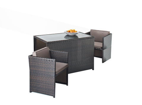 Cannes Mocha Royalcraft Brown 4-Seater Round Set