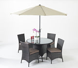 Port Royal Luxe Round Dining Set - 4 Seater