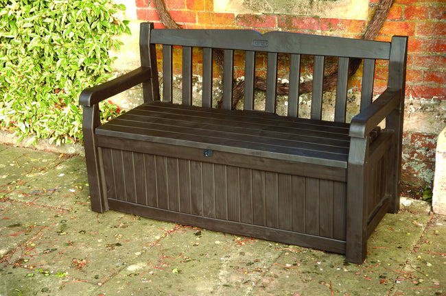 Brown Eden Bench with Storage