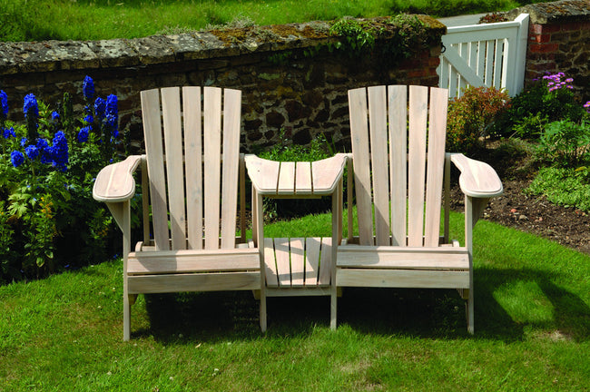 Classic Adirondack Chair – Double Seat in Colonial White Wash