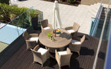 Hawaii Cozy Bay 4 Seasons 6 Seater Table & Chai...