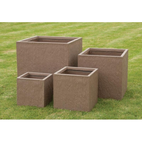 4 Planters – Slate Effect Fibre Clay