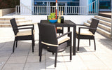 Bistro Cozy Bay Black Cumberland 4 Seater 4 Lin...