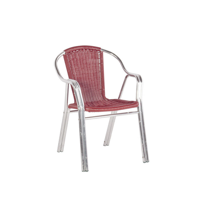 Bistro Cozy Bay Cappucino Maroon Stackable Chair