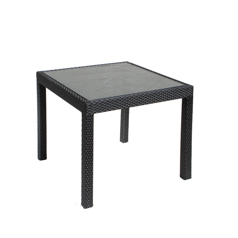 Bistro Cozy Bay Square Black Rattan Table