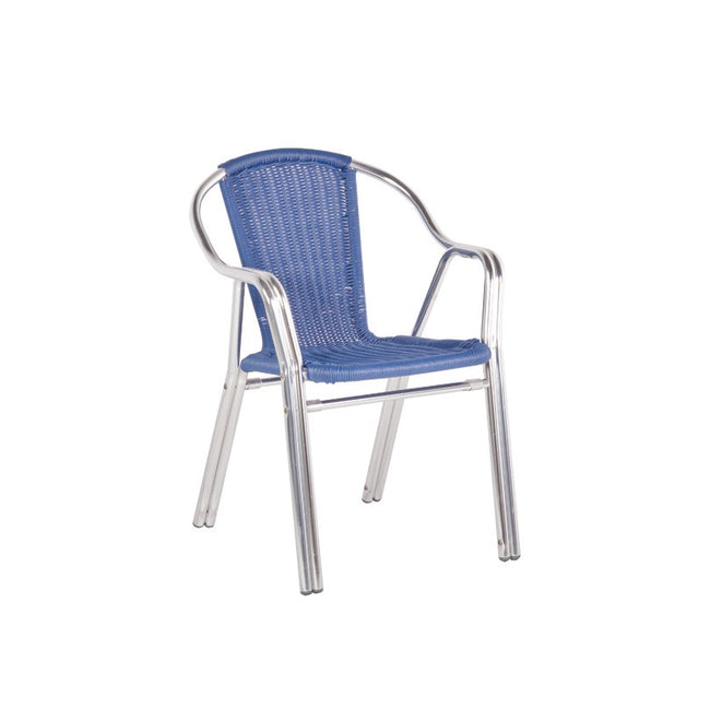Bistro Cozy Bay Cappucino Blue Stackable Chair