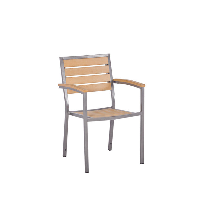 Bistro Cozy Bay Macchiato Syn-Teak Stackable Chair