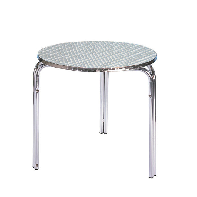 Bistro Cozy Bay 80cm Stackable Round Aluminium Table