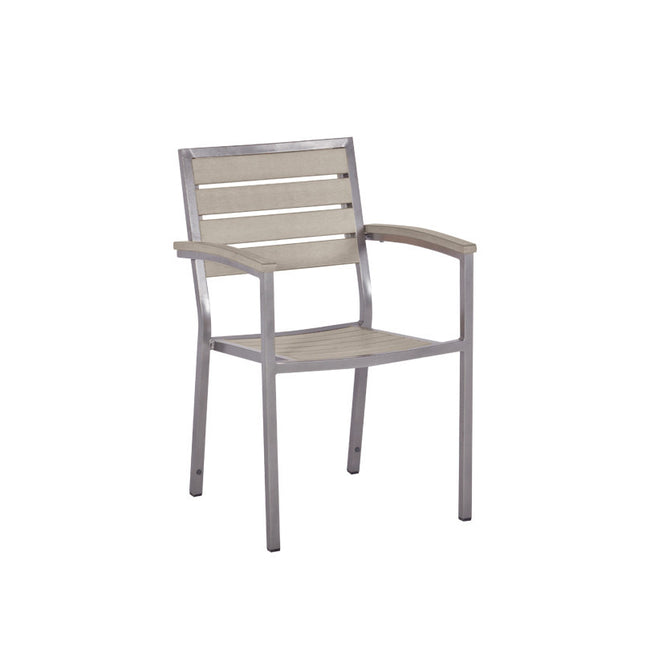 Bistro Cozy Bay Macchiato Walnut Stackable Chair