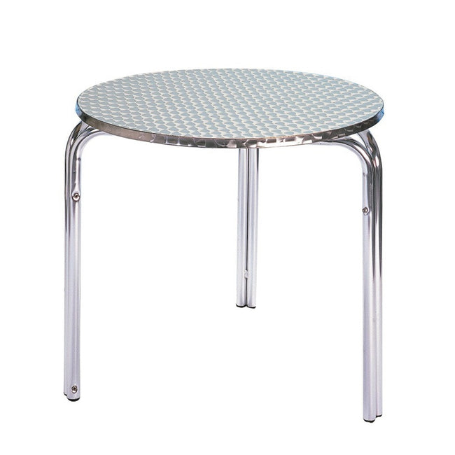 Bistro Cozy Bay 70cm Stackable Round Aluminium Table