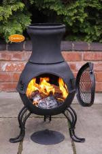 Gardeco - Billie Cast Iron Chiminea in Black
