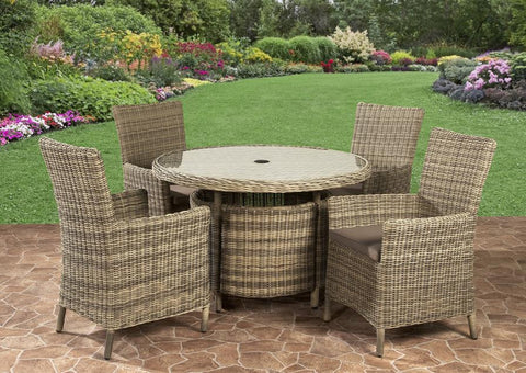 Modena Royalcraft 4 Seater Round Dining Set