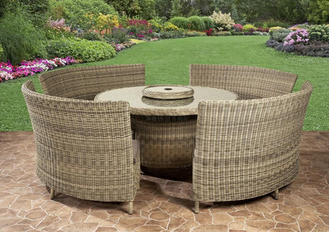 Modena Royalcraft 8/10 Seater Round Fan Bench Set