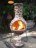 Gardeco - Cantera Extra-Large Brown Glaze Chiminea