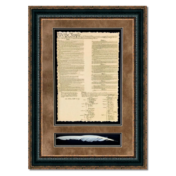 United States of America Constitution with Quill | Wall Art Print | 18X28