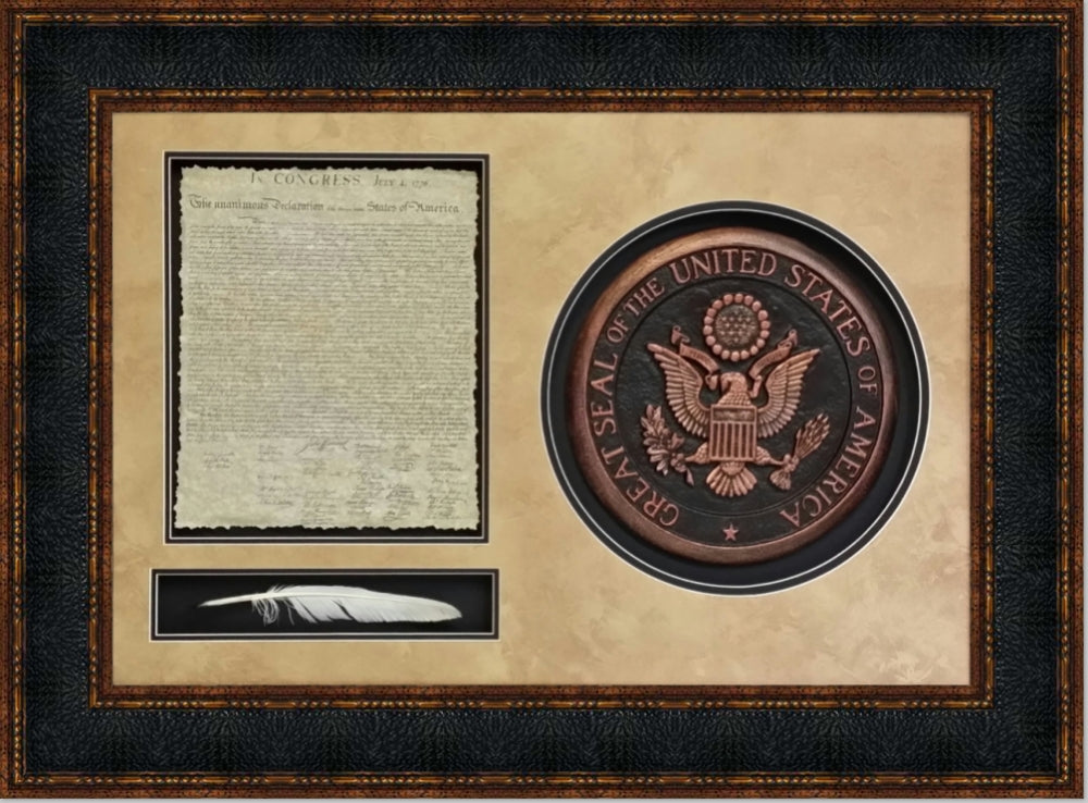 United States of America Declaration with Quill and Seal