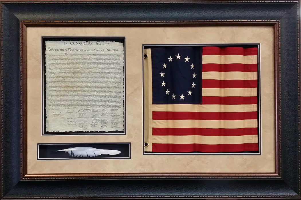 Betsy Ross Flag with Declaration and Quill