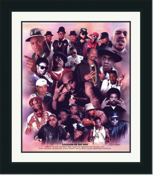 Hip Hop Legends | Biggie Smalls, 2Pac, Dr. Dre | Wall Art Print 11X14, 20X24, 24X30