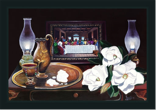 Black Last Supper with Magnolias