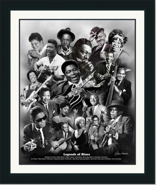 Legends of Blues | B.B. King, John Lee Hooker, Muddy Waters | Wall Art Print 11X14, 20X24, 24X30