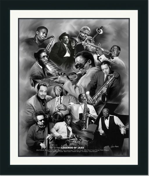 Legends of Jazz | John Coltrane, Duke Ellington, Louis Armstrong | Wall Art Print 11X14, 20X24, 24X30