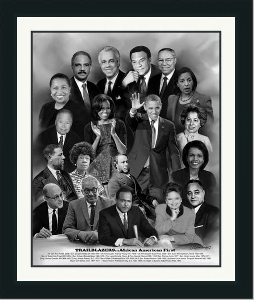Trailblazers: African American First | Wall Art Print| 11X14, 20X24, 24X30