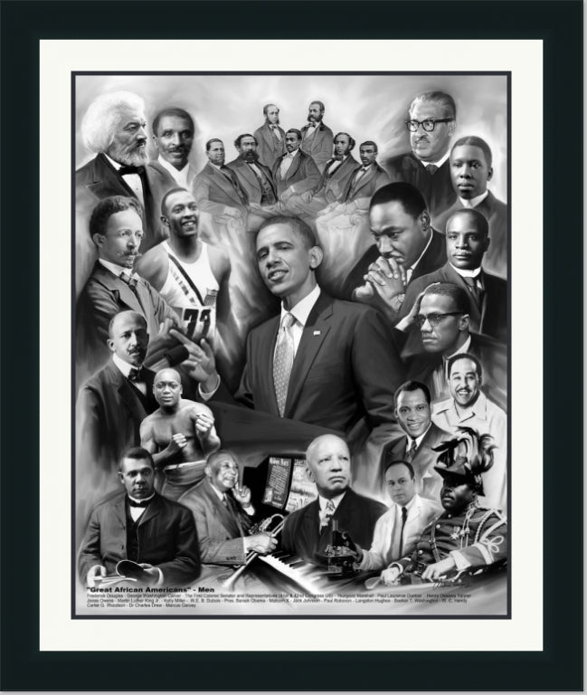 Male African American Leaders | Wall Art Print | 14X11 , 24X20, 30X24