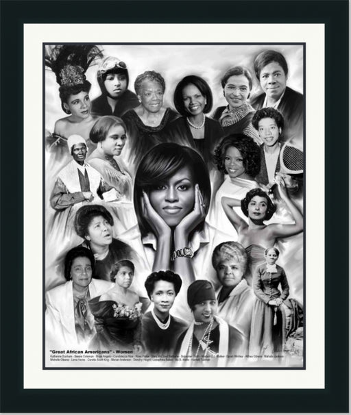 Female African American Leaders | Wall Art Print | 14X11 , 24X20, 30X24