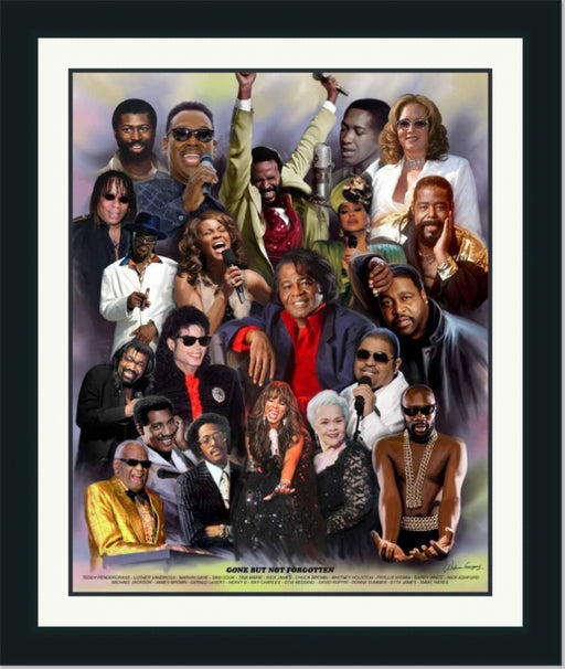 Gone But Not Forgotten | James Brown, Ray Charles, Rick James | Wall Art Print 11X14, 20X24, 24X30