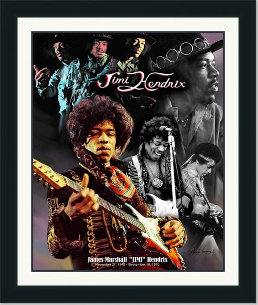 Jimi Hendrix | American Rock and Roll Legend | Wall Art Print 11X14, 20X24, 24X30