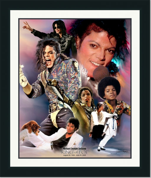 Michael Jackson | King of Pop Music Legend | Wall Art Print 11X14, 20X24, 24X30